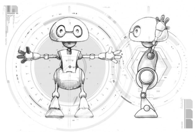 Referencia modelar un robot en Blender