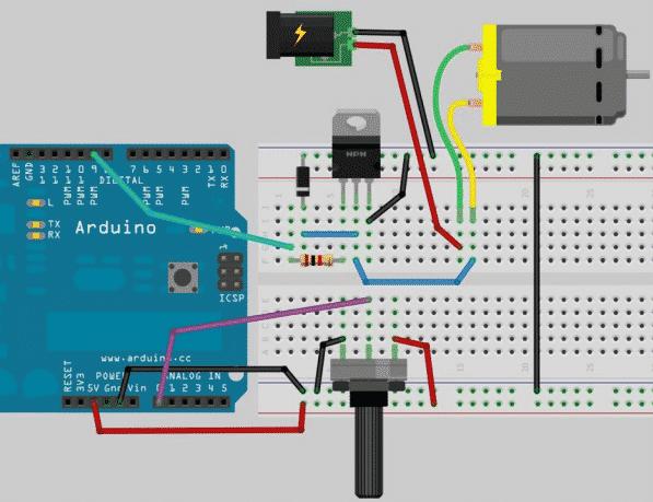 Esquema tutorial motor control simple