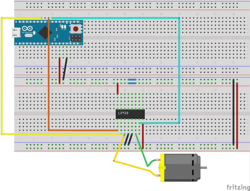 Esquema tutorial motor control en dos direcciones