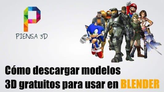 Como descargar modelos 3D blender