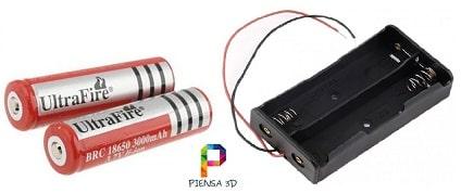 Cómo alimentar Arduino con bateria 18650 3.7 V