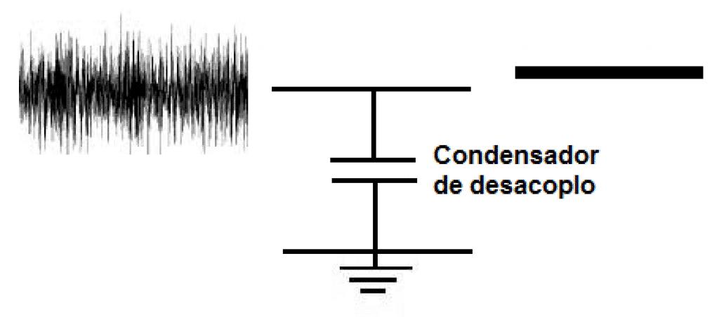 Condensador de desacoplo